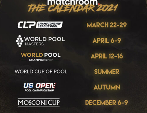 MATCHROOM ANNOUNCES BIGGEST EVER YEAR OF POOL WITH SIX MAJOR EVENTS
